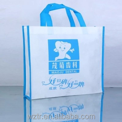 promotional Eco friendly custom size pp non woven shopping bags with logos