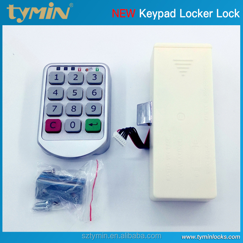 Zinc alloy digital electronic keypad cabinet lock, one-time code available, wood or steel door workable