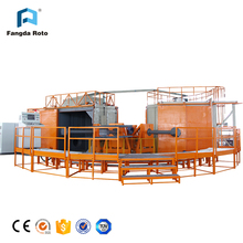 Rotational molding machine with three arms, Plastic thermoforming machine
