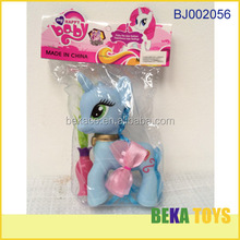 Fashion toy 2014 cheap hot sale plastic blue baby horse
