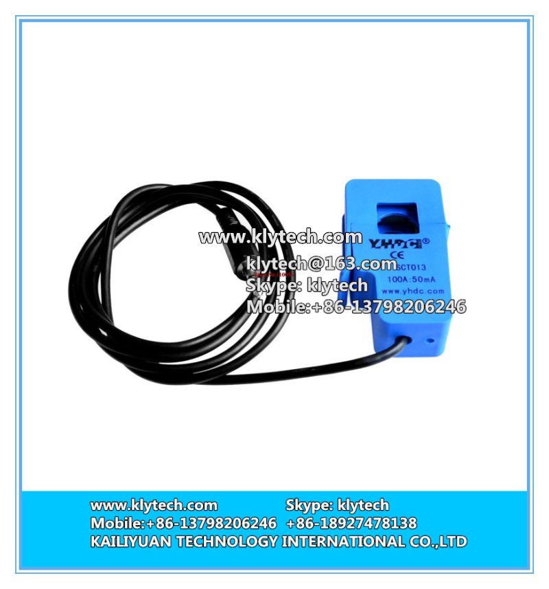 hot sale 5pcs/lot AC current sensor SCT-013-000 100A Non-invasive Split Core DIY