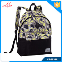 2016 latest lightweight durable girl fashionable printed backpack