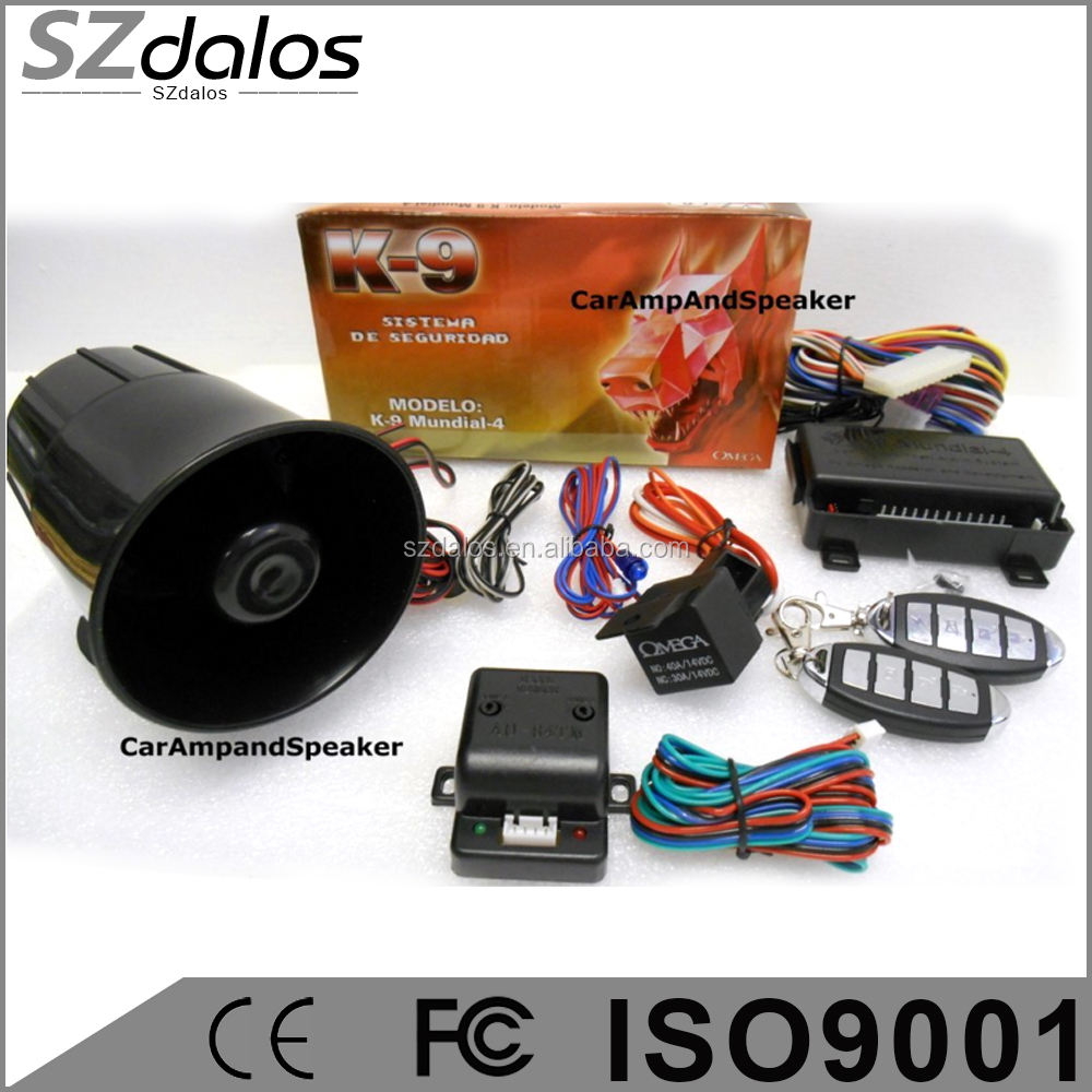GPS/GSM Function and One Way Type K9 smartphone car alarm