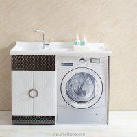 New arrival stainless steel bathroom washing machine cabinet L308