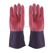 Bicolor Industrial Latex Gloves