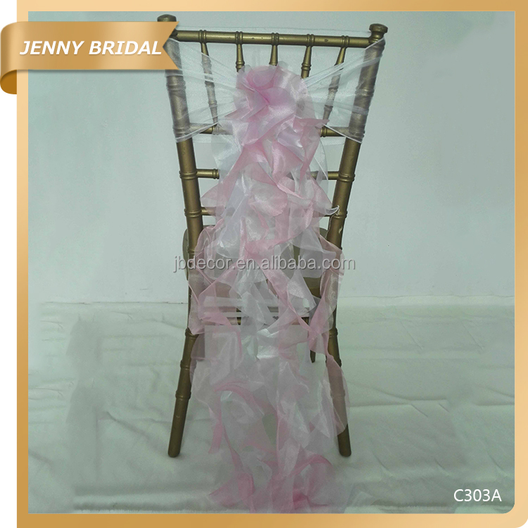 C303 Fancy organza hot sale used for banquet chair cover
