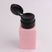 Square Refillable Shape Nail Polish Remover Liquid Pumping Bottles Container