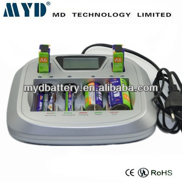 AA/AAA/C/D/9V cells charging together / battery chargers for aa/aaa batteries