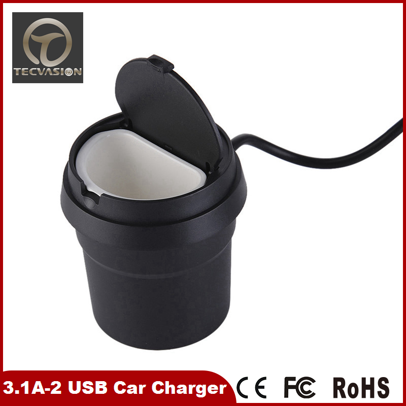 factory wholesale 12v car battery charger 2 usb car charger Cigarette Lighter Adapter with great price
