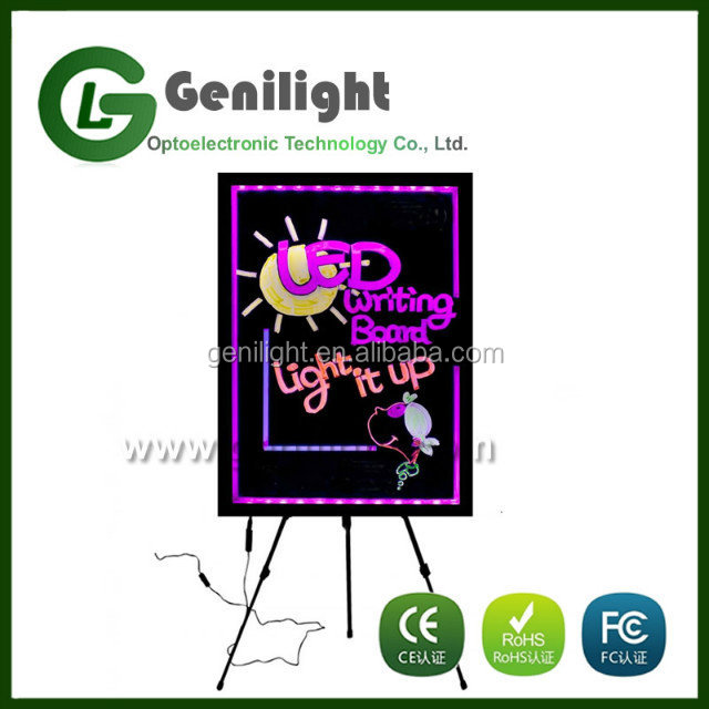 fluorescent light up led writing message board