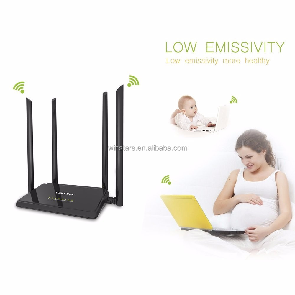 AC1200 IEEE802.11ac Dual Band Broadband Wireless Router, Signal Booster With 4x5dBi High Gain External Antennas