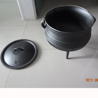 Three Leg High Quality Cast Iron potjie Pot belly pot 3 for camping