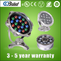 36W DMX RGBW led spring light led underwater light lamp