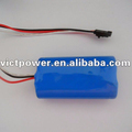 High capacity 2S1P 7.4V 3000mAh rechargeable li-ion battery pack
