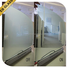 on/off electrical pdlc innavative glass, Opaque treatment pdlc material window glass tinting EB GLASS BRAND