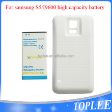 High quality rechargeable mobile phone external housing battery+Cover 7800mAh 3.8V for samsung S5/i9600 high capacity battery