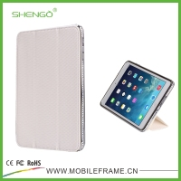 High Qulity Hot Selling Diamond Flip PU Leather Tablet Case for iPad Mini