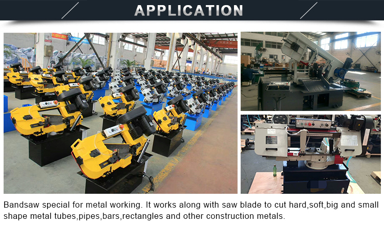 SH-H  BS-712N Cost effective metal cutting machine horizontal bandsaw machine application