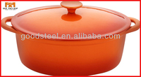 MSF oval color cast iron cookware with lid