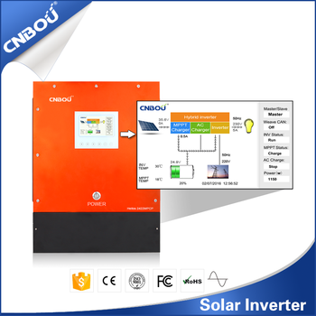 24V 2000w DC to AC Solar Inverters(With 40A MPPT solar charger control function)