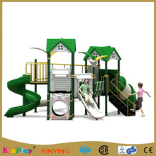 KINPLAY brand cheap giant airplane outdoor plastic slide playground for children