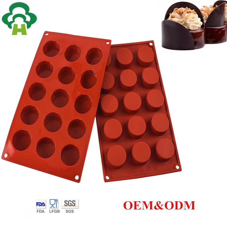 eco-friendly cylinder shape silicone cake mould handmade soap tool customized biscuit cake round molds for baking