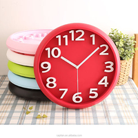 10.8 inch Quartz Analog Young Town Clock Movements Plastic Clock