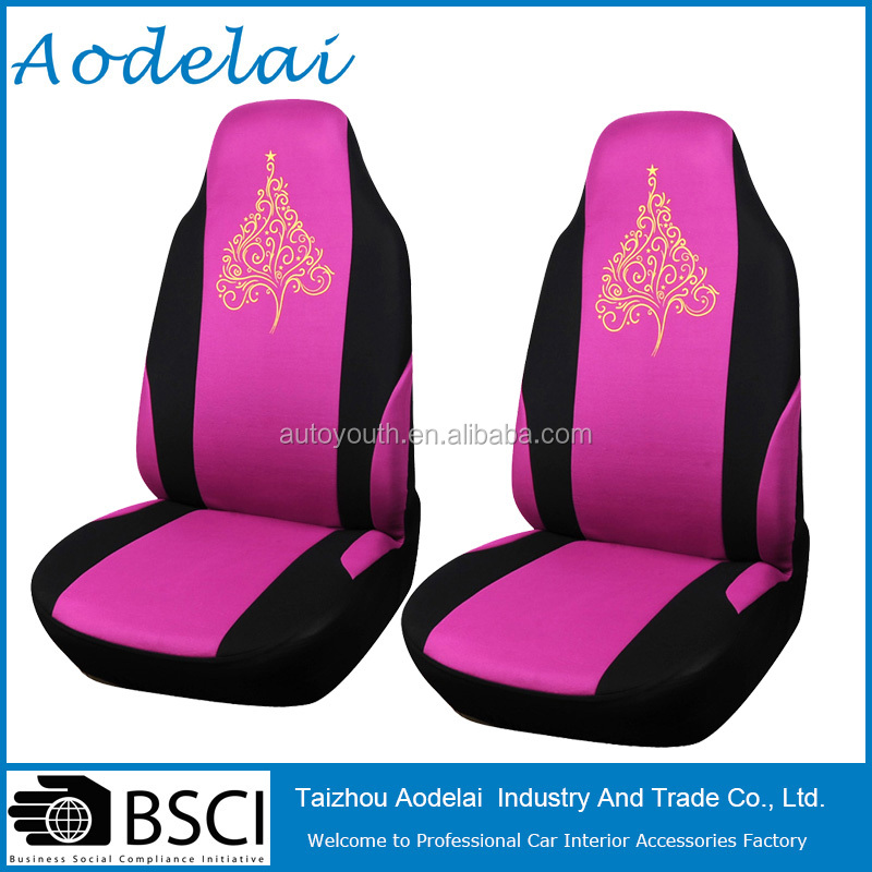 Luxury Christmas Trees Style Fancy Car Seat Cover Red color anime car seat covers