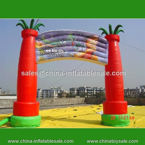pop cheapest red inflatable water park arch\beach arch