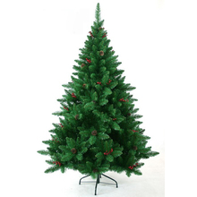 cuspidal PVC christmas tree with pine cone and berry