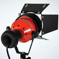 Newest 800w Continuous Halogen Light Barn Door,red head studio light