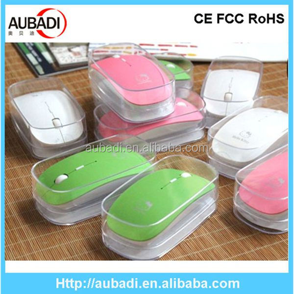 Beautiful factory supply 2.4G optical wireless computer mause for pc