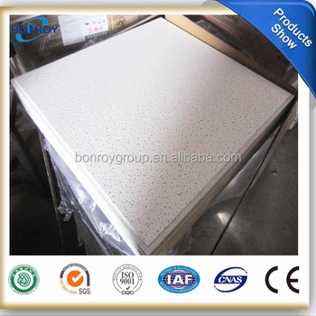 15mm 603*603mm mineral fiber acoustic ceiling ,mineral wool ceilng, mineral wool board