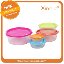 New product custom storage clear plastic box /small clear plastic container with hinged lid