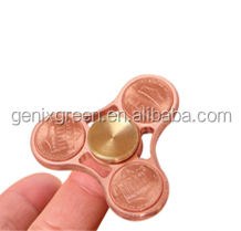 2017 Top Selling Pure Copper Finger Style Fidget Spinner For Adult And Children