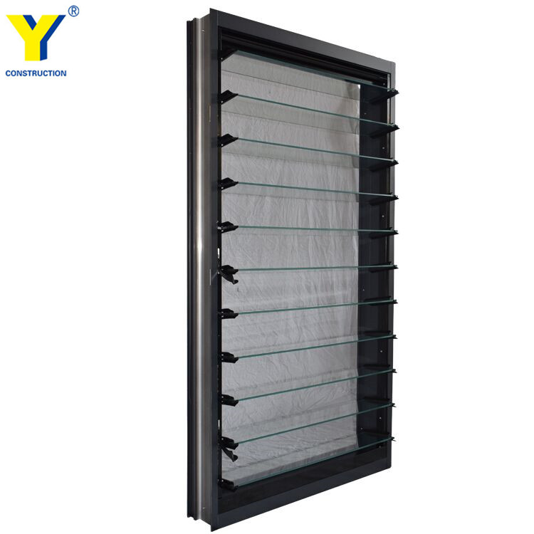 aluminium glass louver windows glass shutter windows for homes adjustable shutters