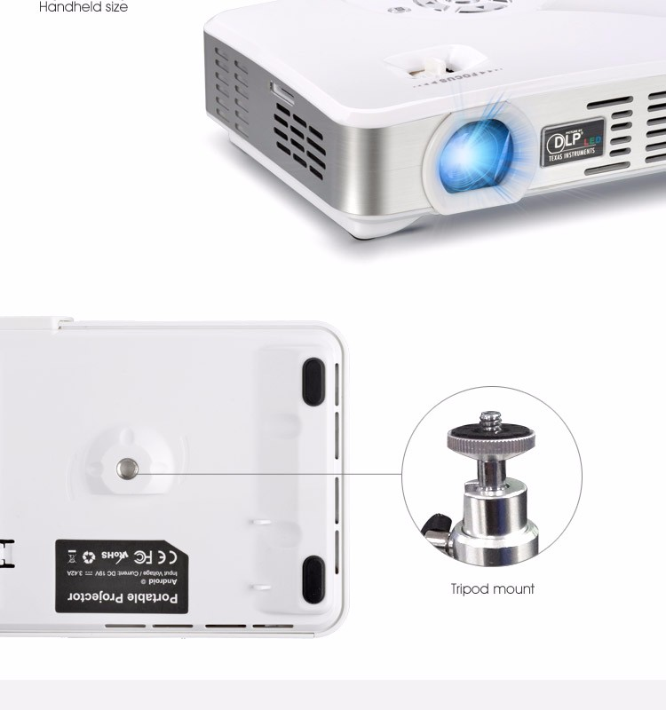 Android 3d dlp projector latest projector mobile phone for Texas instruments mini projector