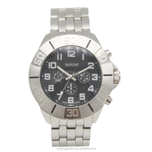 Geneva waterproof quartz movt watch wholesale cheap stainless steel men's watch