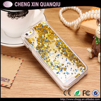 [CX]Dynamic Liquid Quicksand Fundas Hard Case Covers For Iphone 5 5s 6 6s Glitter Stars Capas Para Back Cover