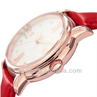 Leather band Women watch with Japan movement two tone color with high quality