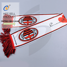 Factory direct cheap advertising acrylic sport football men's scarf