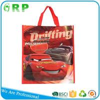 High capacity new design famous brand full print non woven tote bag