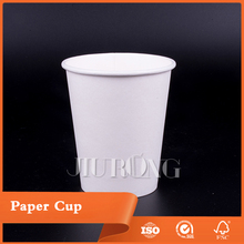 Good quality White color drinking single wall Customized paper cup with tea