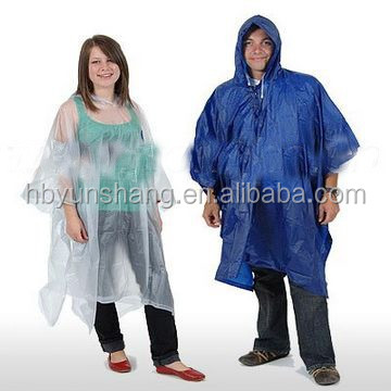 EVA /LDPE rain poncho wholesale advertisement Gifts PE Disposable Rain Poncho For promotion