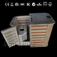 half body folder combined shower sauna with carbon heater and ceramic heater together