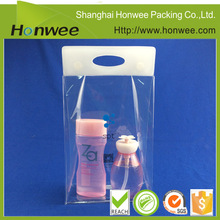 high quality heat heal OEM biodegradable clear plastic bag with hang hole