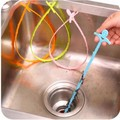 Kitchen Bathroom Drain Sewer Dredge Hair Wig Sink Hook Cleaning Tool Useful
