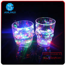 Liquid Activated LED Flashing Cup Colorful Light Glow LED skull Cup