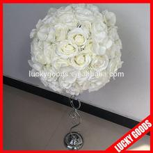 45cm rose and butterfly orchid white decorative artificial table flowers for wedding and church decoration
