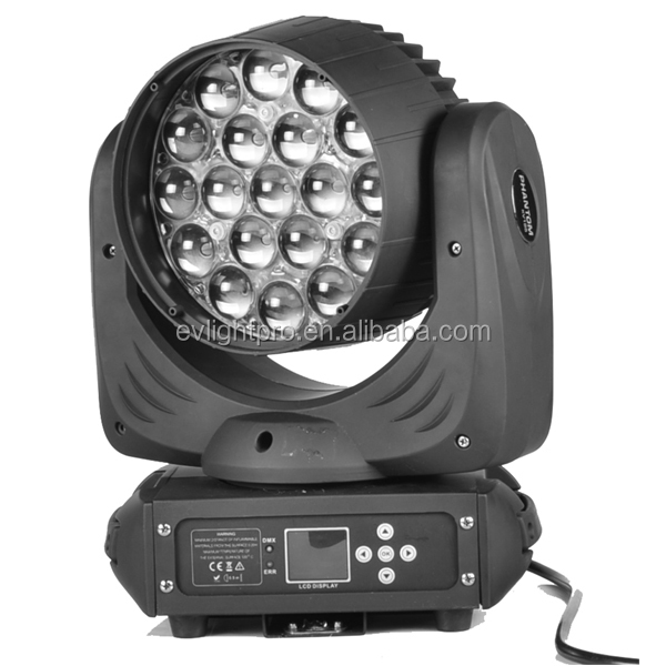 China OEM vendor 19x15w zoom led moving head beam light